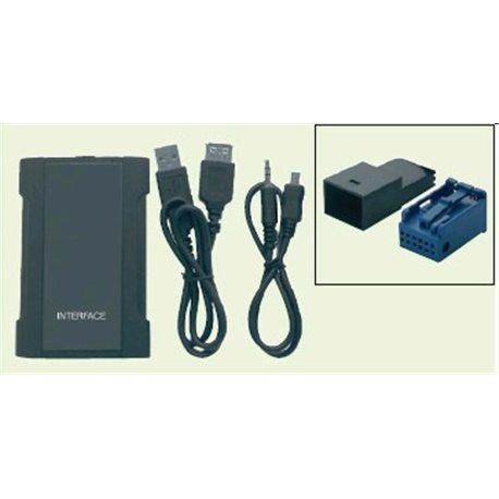 Interfejs AUX-IN USB-SD-MP3 DO RADIA OEM AUDI -VW 03-FAKRA z dodatkowym przełacznikem żródeł