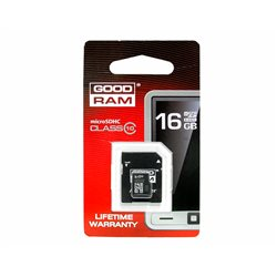 KARTA PAMIĘCI MIKRO SD 16GB+ADAPTER UHS-1 Class10 GOODRAM