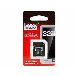 KARTA PAMIĘCI MIKRO SD 32GB+ADAPTER UHS-1 Class10 GOODRAM