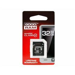 KARTA PAMIĘCI MIKRO SD 32GB+ADAPTER UHS-1 Class10 GOODRAM