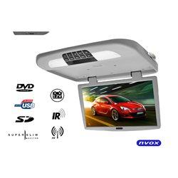 """MONITOR PODSUFITOWY 18,5"""" NVOX RF1890D SZARY DVD/USB/SD"""
