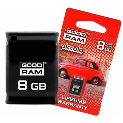 PENDRIVE 8GB USB 2.0 GOODRAM PICCOLO BLACK
