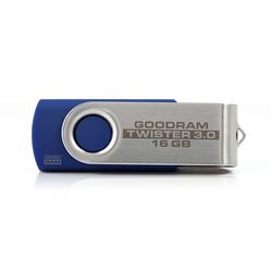 PENDRIVE 16GB USB 3.0 GOODRAM TWISTER BLUE RETAIL9 ND122