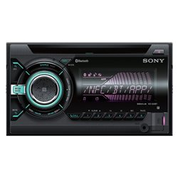 SONY WX-900BT 2-DIN CD+USB+BT+NFC MULTI COLOR