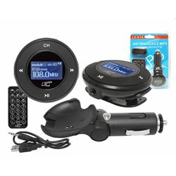 TRANSMITER FM LX-K14 (MINI JACK+USB+2GB+SŁ)CZARNY odczepiany