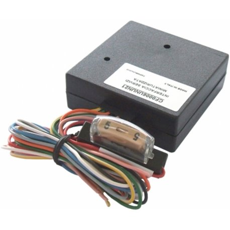 Interfejs CAN generuje sygnał: zapłonu, prędkości, bieg wsteczny, hamulec, światła