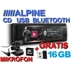 ALPINE CDE-178BT + pamięć 16GB