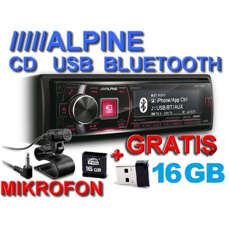 ALPINE CDE-178BT + pamięć 16GB
