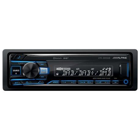 Alpine UTE-204DAB Radioodtwarzacz 1din USB DAB Bluetooth