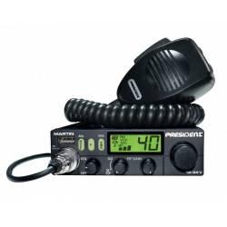RADIO CB PRESIDENT MARTIN ASC AM/FM 12V/24V