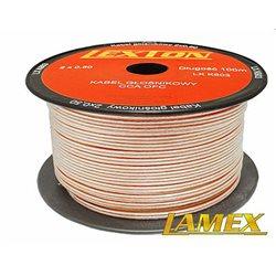 Kabel głośnikowy 2x0,50MM PRZEŹROCZYSTY CCA/OFC (1mb)