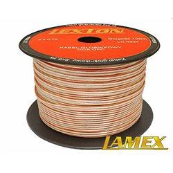Kabel głośnikowy 2x0,75MM PRZEŹROCZYSTY CCA/OFC (1mb)
