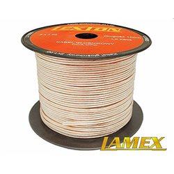 Kabel głośnikowy 2x1,00MM PRZEŹROCZYSTY CCA/OFC (1mb)