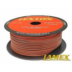 Kabel głośnikowy 2x0,35MM CZERWONO-CZARNY CCA/OFC (1mb)
