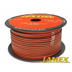 Kabel głośnikowy 2x0,50MM CZERWONO-CZARNY CCA/OFC (1mb)