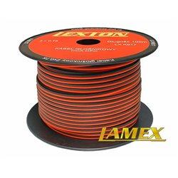 Kabel głośnikowy 2x0,75MM CZERWONO-CZARNY CCA/OFC (1mb)