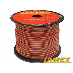 Kabel głośnikowy 2x1,00MM CZERWONO-CZARNY CCA/OFC (1mb)
