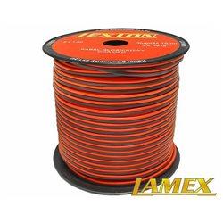 Kabel głośnikowy 2x1,50MM CZERWONO-CZARNY CCA/OFC (1mb)