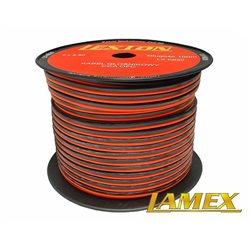 Kabel głośnikowy 2x2,50MM CZERWONO-CZARNY CCA/OFC (1mb)