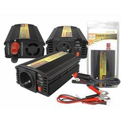 "PRZETWORNICA 12-230V ""LEXTOOL"" 300W/600W+5V USB LXP53"