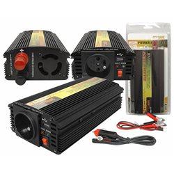 "PRZETWORNICA 12-230V ""LEXTOOL"" 500W/1000W+5V USB LXP55"