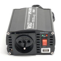 "PRZETWORNICA 24-230V ""VOLT "" IPS-500 PLUS/24 500/300W+5V(USB)"