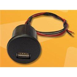 ŁADOWARKA SAMOCHODOWA UNIWERSALNA USB 12V-5V/2 1A DO ZABUDOWY